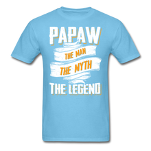 Load image into Gallery viewer, Papaw the Legend T-Shirt - aquatic blue