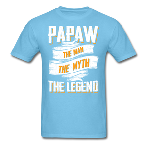 Papaw the Legend T-Shirt - aquatic blue