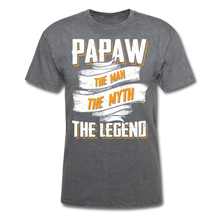 Load image into Gallery viewer, Papaw the Legend T-Shirt - mineral charcoal gray