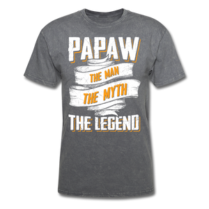 Papaw the Legend T-Shirt - mineral charcoal gray