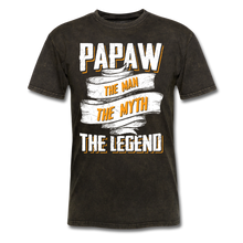 Load image into Gallery viewer, Papaw the Legend T-Shirt - mineral black