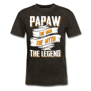 Papaw the Legend T-Shirt - mineral black