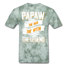 Load image into Gallery viewer, Papaw the Legend T-Shirt - military green tie dye