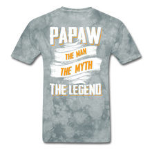 Load image into Gallery viewer, Papaw the Legend T-Shirt - grey tie dye
