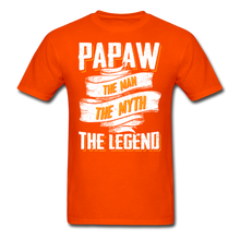 Load image into Gallery viewer, Papaw the Legend T-Shirt - orange