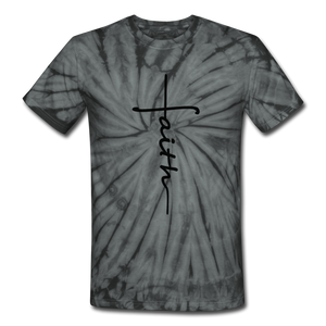 Faith - Unisex Tie Dye T-Shirt - spider black