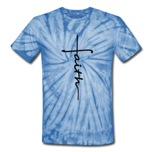 Load image into Gallery viewer, Faith - Unisex Tie Dye T-Shirt - spider baby blue