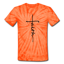 Load image into Gallery viewer, Faith - Unisex Tie Dye T-Shirt - spider orange