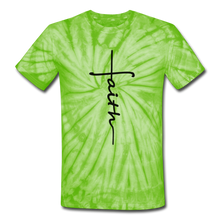 Load image into Gallery viewer, Faith - Unisex Tie Dye T-Shirt - spider lime green