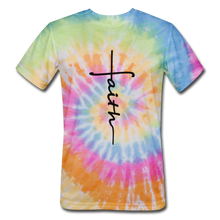 Load image into Gallery viewer, Faith - Unisex Tie Dye T-Shirt - rainbow