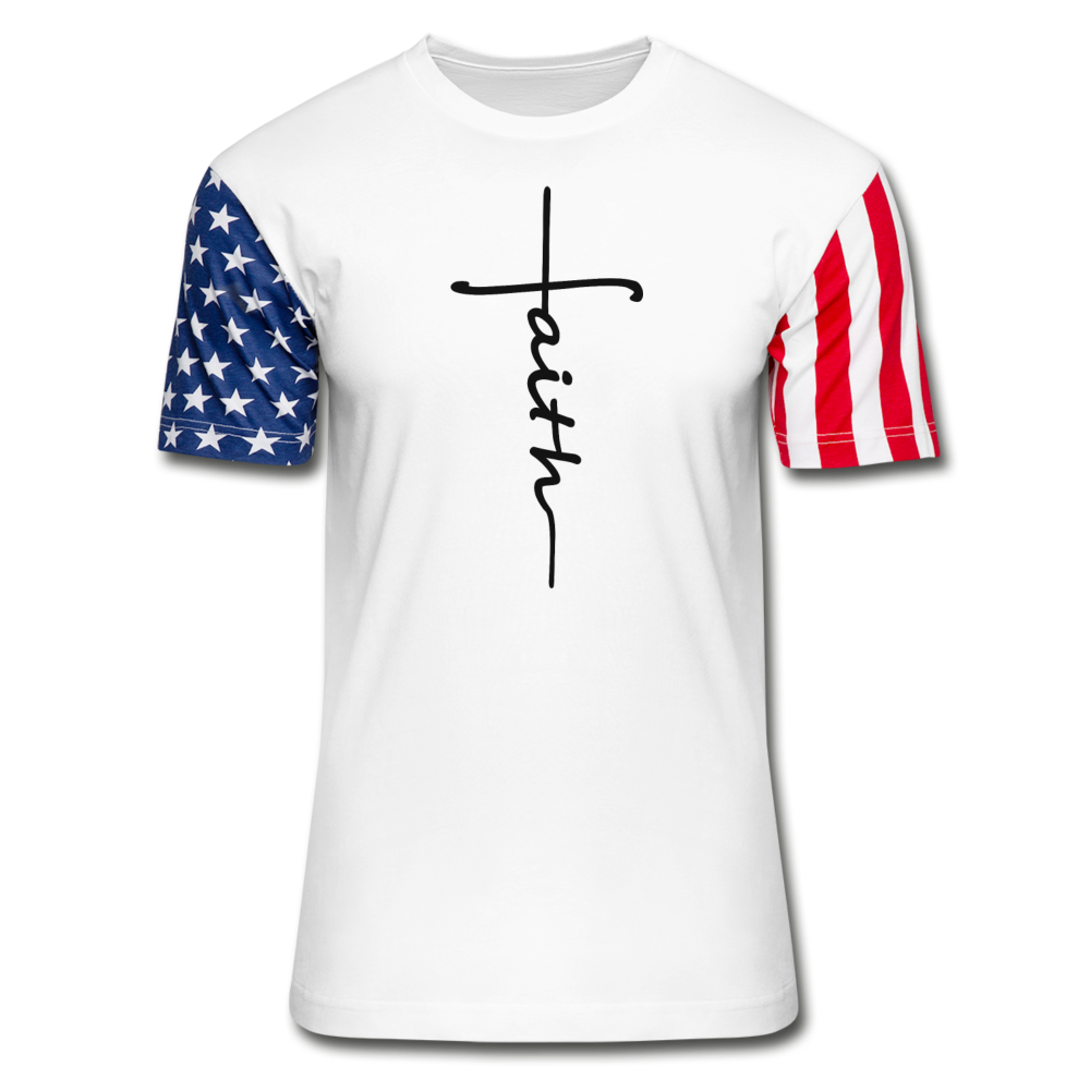 Faith Flag T-Shirt - white