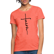 Load image into Gallery viewer, Faith - Women's Classic T-Shirt - heather coral