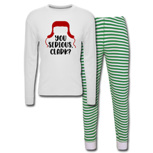 Load image into Gallery viewer, Christmas Vacation - You Serious Clark - Unisex Pajama Set - white/green stripe