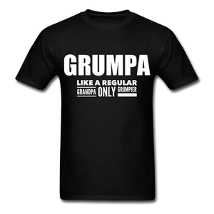 Grumpa Like A Regular Grandpa Only Grumpier Funny Men's Tshirts | Humorous Men's Gifts - black