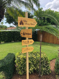Your Miles to Walt Disney World Personalized Sign