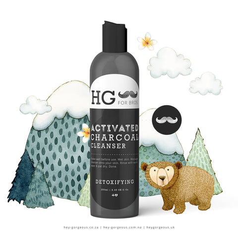 HG For Bros Activated Charcoal Detoxifying Cleanser