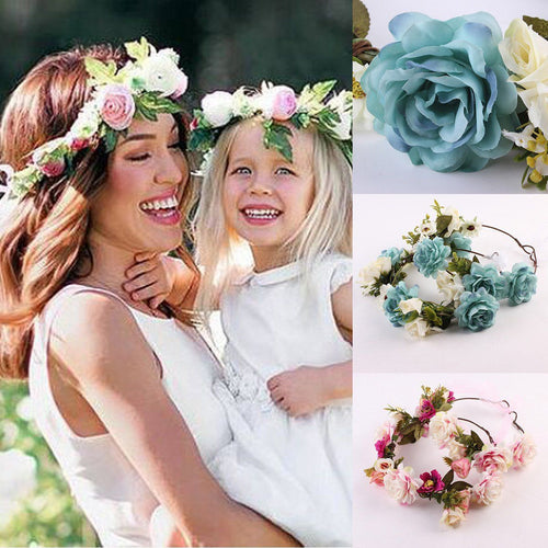 Mother and Daughter Halo Flower Crown