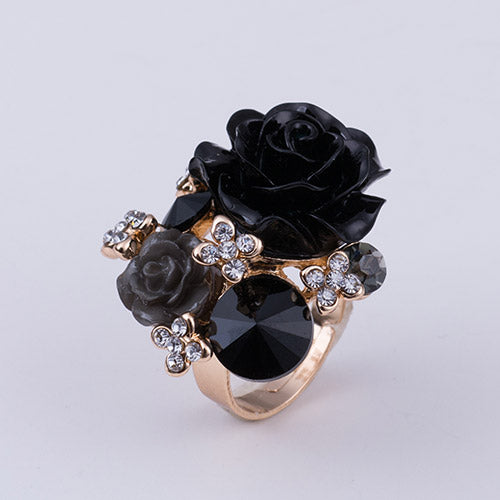 Rose Flower Statement Ring