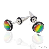 Rainbow LGBT Punk Stud Earrings