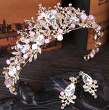 Pink & Gold Bridal Crown