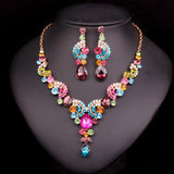 Crystal Necklace & Earrings Set