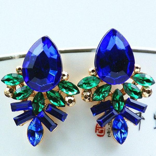 Blue Party Stud Earrings