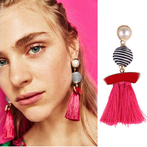 Fringed Statement Tassel Earrings
