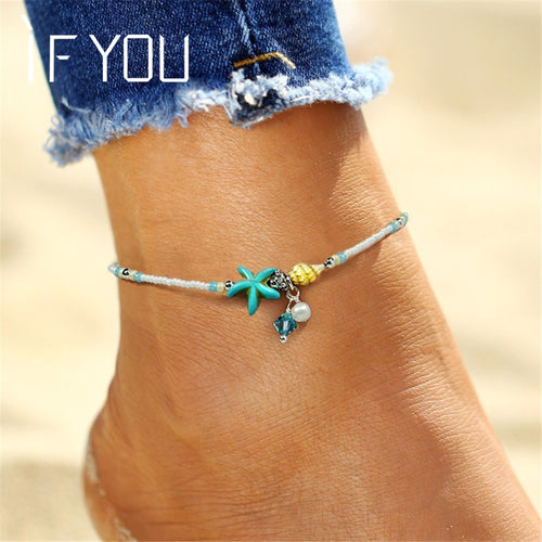 Bead Shell Foot Anklet