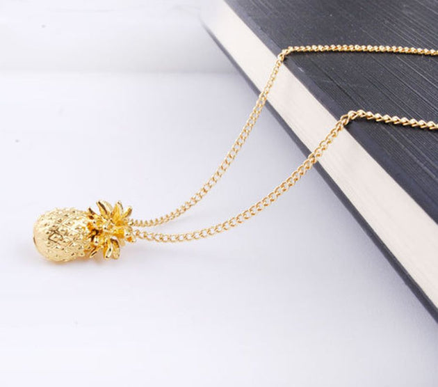 Gold Statement Pineapple Necklace