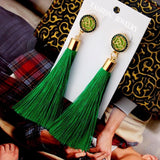 Long Tassel Statement Earrings