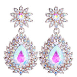 Flower Shape Stud & Tear Drop Earrings