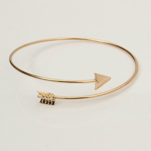Arrow Charm Open Bangle