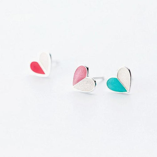 Love Heart Stud Earrings