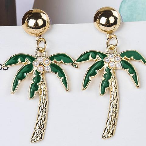 Coconut Palm Tree Earrings