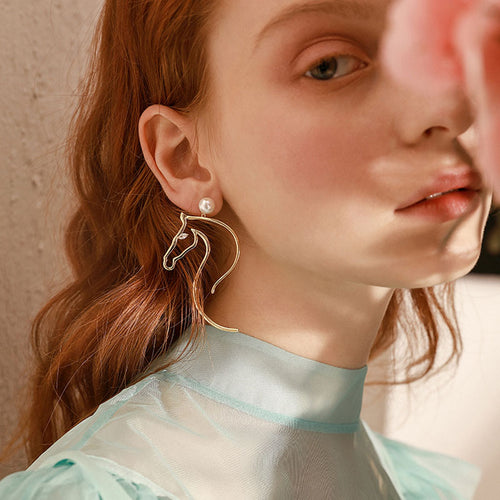 Flying Horse Statement Earrings
