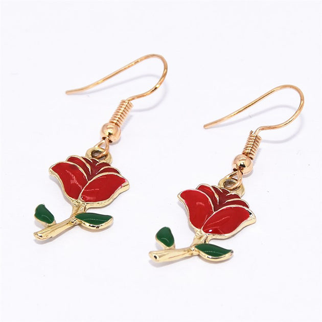 Red Roses Earrings