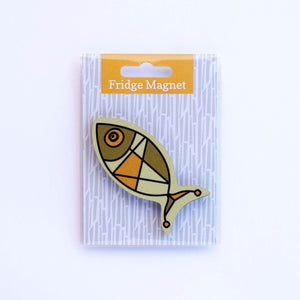 fish fridge magnet in single pack