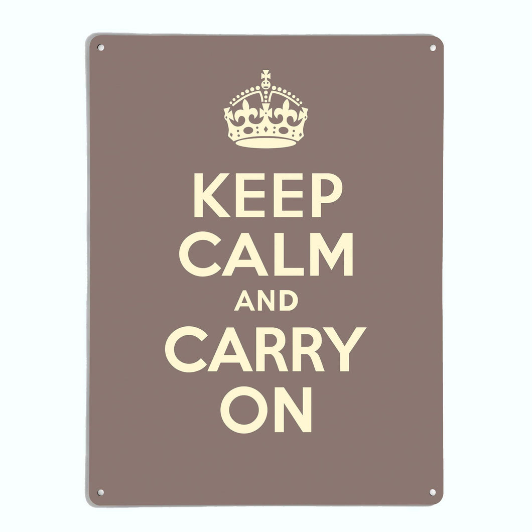 Keep Calm And Carry On Brown Magnetic Notice Board