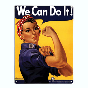 Rosie the Riveter Magnetic Notice Board
