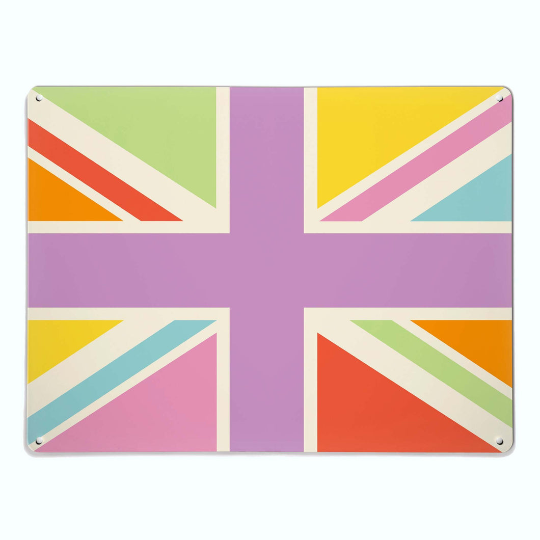 Union Jack Multi-Coloured Magnetic Notice Board