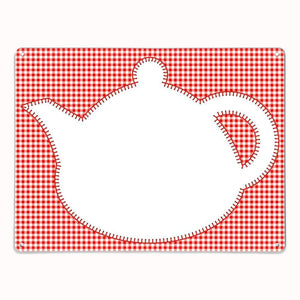 'Teapot - Red' - Large Magnetic / Dry Wipe Board