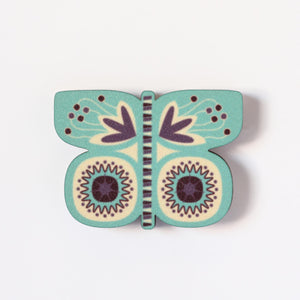 Turquoise Butterfly Magnet
