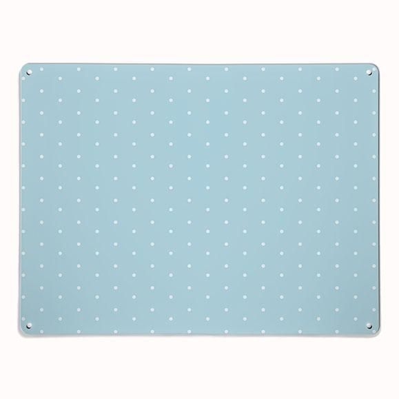 'Polka Dot - Blue' - Large Magnetic Notice Board / Wall Art