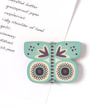 Turquoise Butterfly Magnet with shopping list