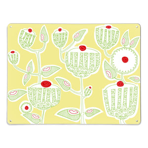 Cupcake Plant Yellow Magnetic Board
