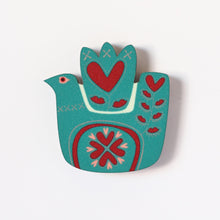 Love Bird Fridge Magnet Teal
