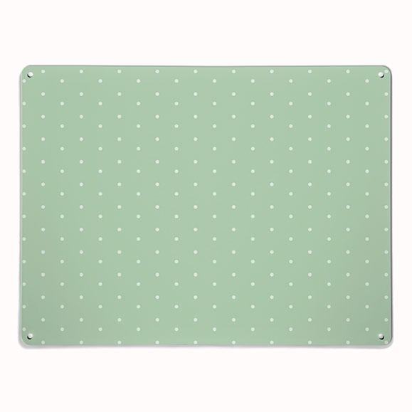 'Polka Dot - Green' - Large Magnetic Notice Board / Wall Art