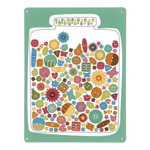 Lucky Jar Buttons Magnetic Board