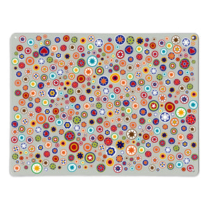 Millefiori on Grey Magnetic Board