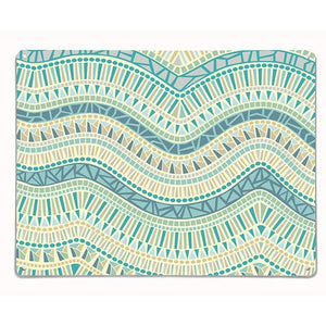 'Mosaic Wave - Ocean' - Large Magnetic Notice Board / Wall Art